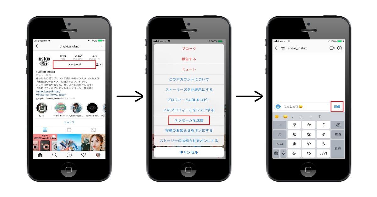 インスタのダイレクトメッセージの使い方・機能